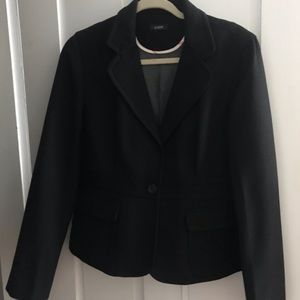 JCrew Black wool blazer Sz10